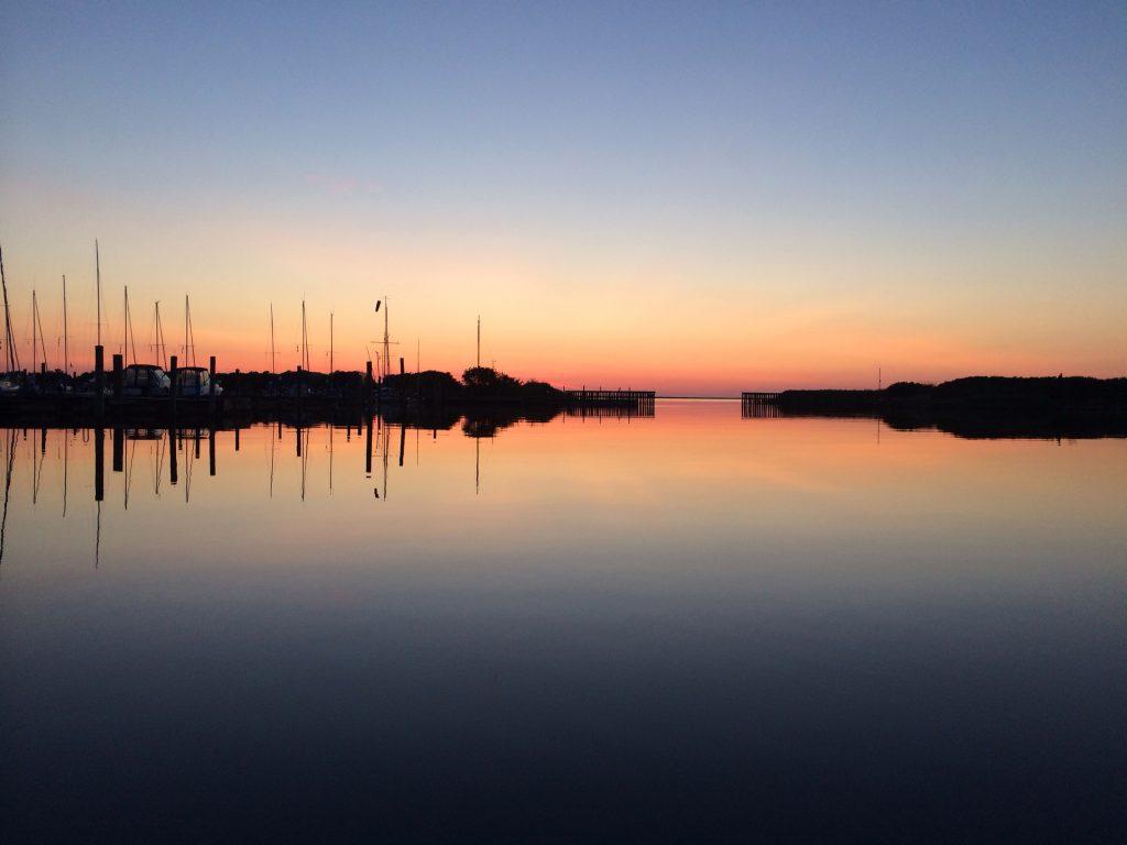 Aftenlys i havnen